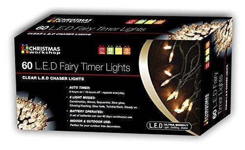 Christmas Workshop LED Lichternetz batteriebetrieben mit Timer