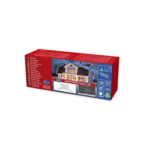 Konstsmide 4813-807 LED Hightech System ErweiterungLichternetz  für Außen IP44  100 bernsteinfarbene Diodenschwarzes Softkabe