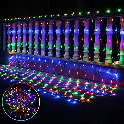 LED Lichternetz Lichterkette Baumbeleuchtung 15m 96 LED Strom Warmweiss Kabel mit Fernbedienung Wasserdicht Kupferdraht 8 Modi Außen Innen für Party Garten Weihnachten Hochzeit Deko