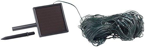 Lunartec LED Netz Solar-LED-Lichternetz 198 LEDs kaltweiß 3 x 3 m IP44 Lichterkette Netz