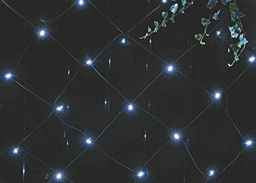 Solar-Lichternetz mit 105weißen LEDs und Blinkfunktion