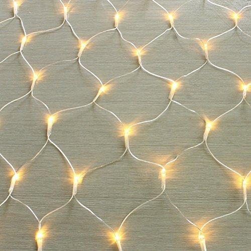 gresonic 100160240320er LED Lichternetz Lichtervorhang Lichterkette Warmweiß Deko Leuchte Innen und Außen Weihnachten Hochzeit mit Stecker 100LED Dauerlicht