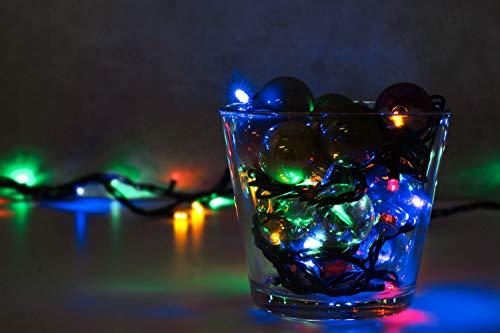LED Universum WBLRGB1065 LED Lichterkette RGB mit 100 LEDs Länge 10 Meter Stimmungsbeleuchtung spritzwassergeschützt für innen und außen Weihnachten Feier Wohnzimmer Garten Terasse