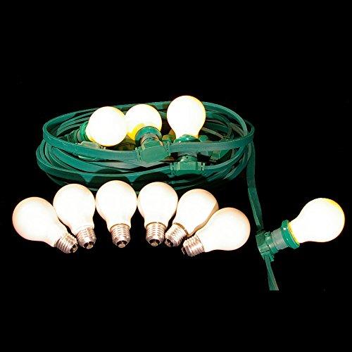 10m festliche Beleuchtung IP44 für innen u außen inkl 10 Glühbirnen matt Illu Lichterkette Sonderangebot