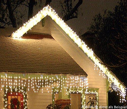LED Eisregen-Lichterkette 480 warmweisse LEDs 120m Außen  Innen
