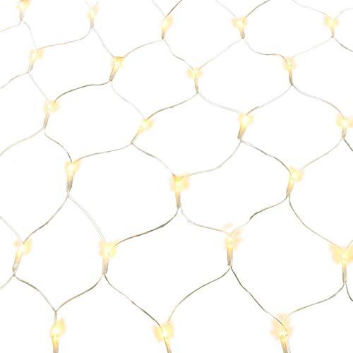 100160240320er LED Lichternetz Lichtervorhang Lichterkette Warmweiß Deko Leuchte Innen und Außen Weihnachten Hochzeit mit Stecker gresonic 160LED Dauerlicht