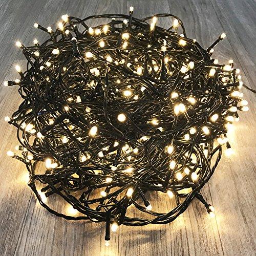 600er LED Tannenbaum Lichterkette Weihnachtslichterkette Warmweiß für Innen Außen Weihnachtszeit Party grünes Kabel