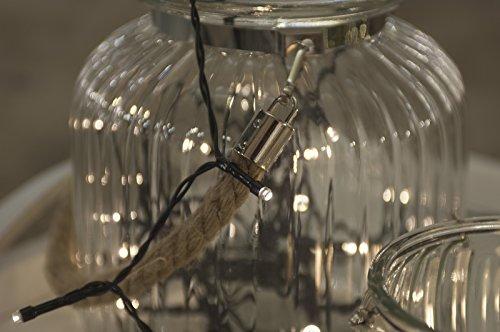 Home&Style Lichterkette 24 LEDs Länge 18 m 50 cm Zuleitungskabel 3x AA Batterie für den Außenbereich mit Timer 6H18H und 8-Funktionsregler mit Memory im Farbkarton warmweiß 007415