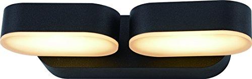 Flexible LED Außen-Wandleuchte Yukon LED-Wandlampe 2x30LED LED-Hausbeleuchtung 10Watt 468lm 3000K Leuchte