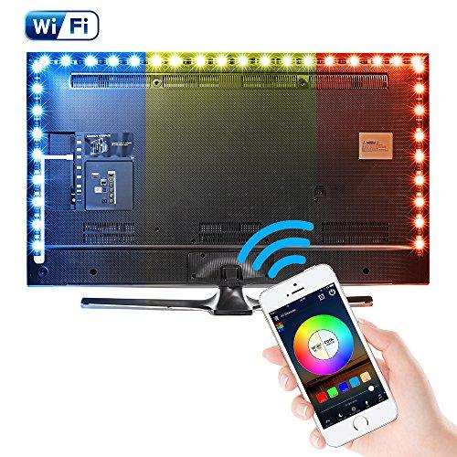 Kreema 3M WIFI USB RGB 5050SMD 90 LED Streifen Licht Smart App Steuerung Flexible TV Hintergrund Streifen Licht mit IR-Fernbedienung