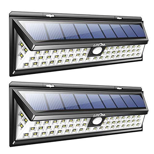 Mpow Solarleuchte Litom 【Untermarke von Mpow】2 Stück 54 LED Solarleuchte Außen Wasserdichte Solar Betriebene Lampe mit 120° Weitwinkel Bewegungs Sensor Solar für Garten Terrasse Wegbeleuchtung