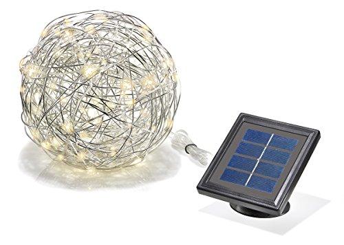 sotec Solarleuchte Wireball 50 LED stabiles Aluminium Lichtfarbe warmweiß 102115