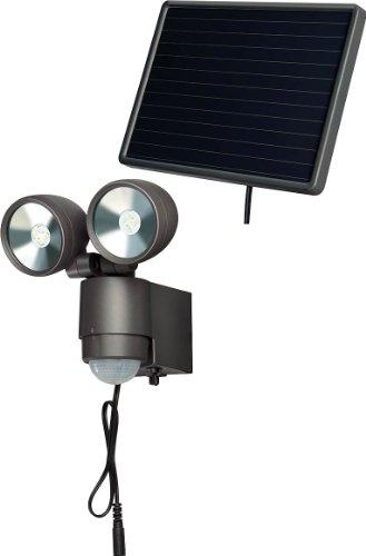 Brennenstuhl LED-Spot SOLLED-Leuchte für außen mit Bewegungsmelder und Solar-Panel IP44 inkl Akku 8 x 05W Farbe anthrazit