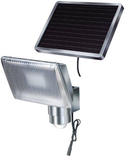 Brennenstuhl LED-Strahler SOL  LED-Leuchte für außen mit Bewegungsmelder und Solar-Panel IP44 inkl Akku 8 x 05W Farbe Aluminium