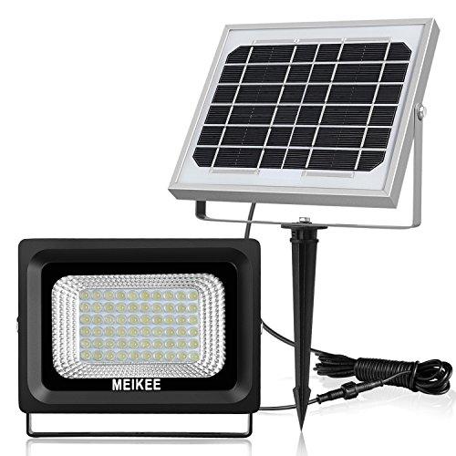 Solarleuchten Solarlampen Außen Solar Betriebene Außenleuchte MEIKEE 60 LED Sicherheit Beleuchtung WandleuchteIP66 Wasserdichte Spüre automatisch Tag und Nacht Sensor-Licht für Garten Patio Deck