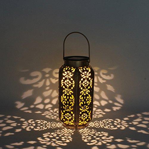 LEDMOMO LED-Solarlaternen die Schattenbild-Solarleuchten-wasserdichte Hexagonlampe für Patio-Hof-Garten-Bahn im Freien hängen