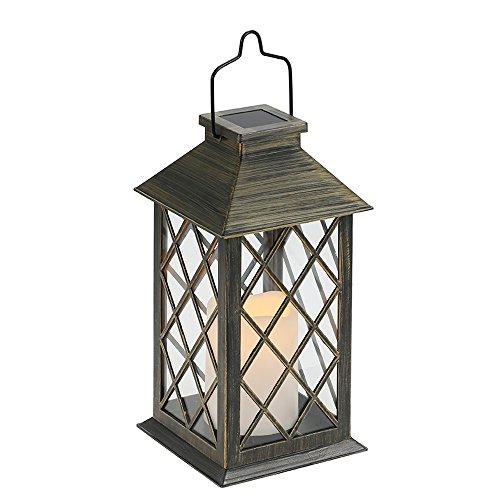 Solar Laterne Tomshine Solarlaterne mit Kerzen Lichteffekt Solarlampe für Außen Gartendeko Solar Gartenlaterne in Kerzenoptik