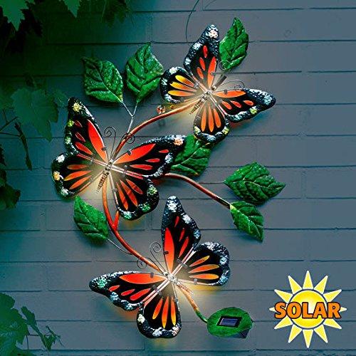 Gärtner Pötschke Wanddeko Solarleuchte Schmetterling