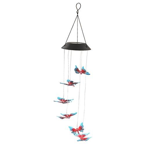 Sharplace Windspiel LED Solarleuchte Solarlampe Farbwechsel Gartenleuchte Hause Garten Dekoration - Schmetterling