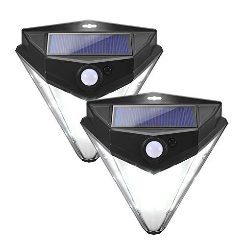 Solarleuchten für Außencareslong 32 LED Solarlampen für Außen mit Bewegungsmelder mit 120 Grad-Weitwinkelbewegungssensor IP65 Wasserdicht Außenleuchte für Garten Patio Terrasse Garage 2 Stück