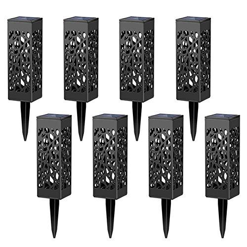 Valukit Solarleuchte 8 Stück für einzigartiges Ambiente - Ideal für Garten Balkon Hof und Terrasse - Solarlampen für Außen - Energiesparende LEDs - Einfache Installation keine Kabel - Wetterfest
