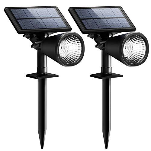 【 ENERGIESPAREND】Mpow 2 Stück Solarleuchten Solarlampe Outdoor Wandleuchte Scheinwerfer im Freien Außenbeleuchtung wasserdicht Wandlicht Sicherheitsleuchte für Garten Garage Auffahrt Pfad Hof