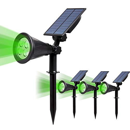 4 Stück T-SUN Solar Solarleuchten Outdoor Wandleuchte 4 LED Helle Garten-Licht 2 Beleuchtungsmodi IP65 Wasserdicht Sicherheitsbeleuchtung Großes Außenlicht für Garten