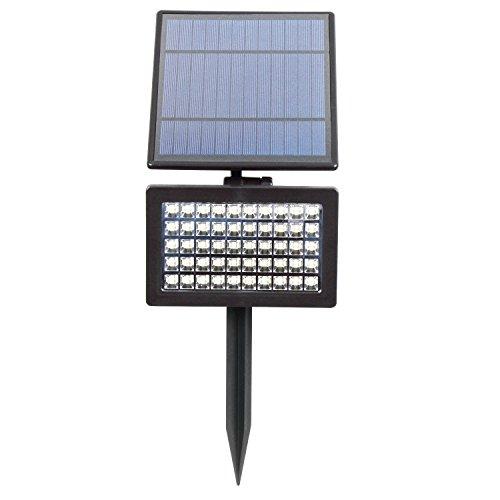 T-SUN 5W Solar Gartenleuchten 50 LED Solar Strahler Hohe Helligkeit 800 Lumen kühles Weiß 6000 K 2 Beleuchtungsmodi Wasserdicht Solarleuchte Outdoor Spotlight Wandleuchte für Baum Terrasse Deck Hof Treppen