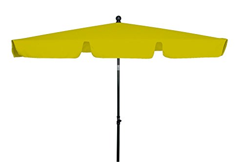 GoodSun Sonnenschirm Rechteckschirm FL gelb 180x120 cm rechteckig Gestell StahlKunststoff Bespannung Polyester 28 kg