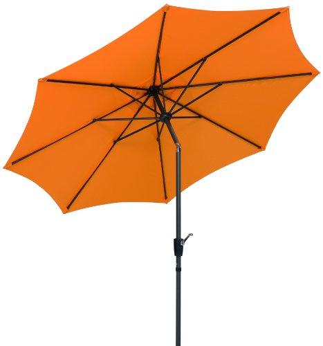 Schneider Sonnenschirm Harlem mandarine 270 cm rund Gestell AluminiumStahl Bespannung Polyester 5 kg