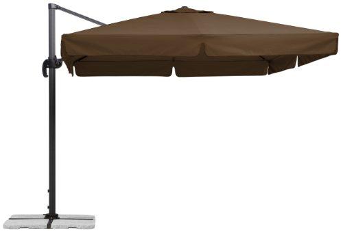 Schneider Sonnenschirm Rhodos mocca 300x300 cm quadratisch Gestell AluminiumStahl Bespannung Polyester 233 kg