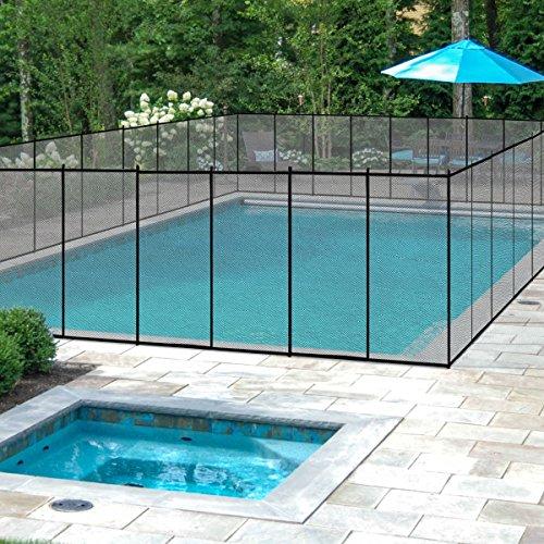 COSTWAY Poolzaun Schutzzaun Poolschutzaun Kinderschutzzaun Teichzaun 366x122cm