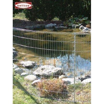 Teichschutzzaun Kleintiergehege 710 x 80 cm inkl 6 Gitter 7 Pfosten