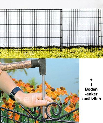 Teichzaun Ambiente 7680 cm PLUS zusätzlichen Bodenanker