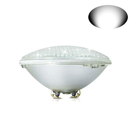 COOLWEST 18W Weiß LED Poolbeleuchtung PAR56 Unterwasserleuchten 12V ACDC IP68 Wasserdicht Unterwasser Pool Scheinwerfer ersetzen 150W Halogen Spot 18W Weiß
