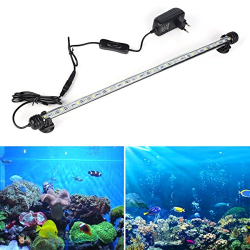 DOCEAN 58W 48cm LED Aquarium Beleuchtung Aquarium Lampe Aquariumleuchte IP68 Wasserdicht Unterwasserleuchte Blau Licht