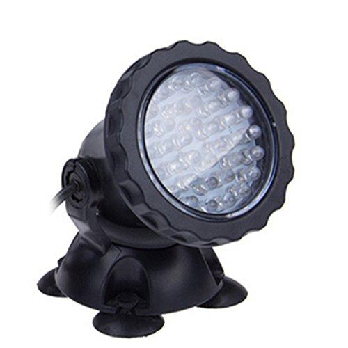 Viktion wasserdicht Super 36 LEDs unterwasserleuchte Aquariumleuchte Teichbeleuchtung Strahler Beleuchtung Lampe Außenstrahler Spotlight für Garten Aquarium IP68 2er Set