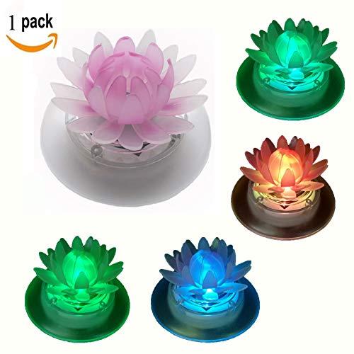 Schwimmende Solar-Lichter für Gartenteich oder Pool LED wasserdicht Garten-Dekoration plastik Lotus 120volts