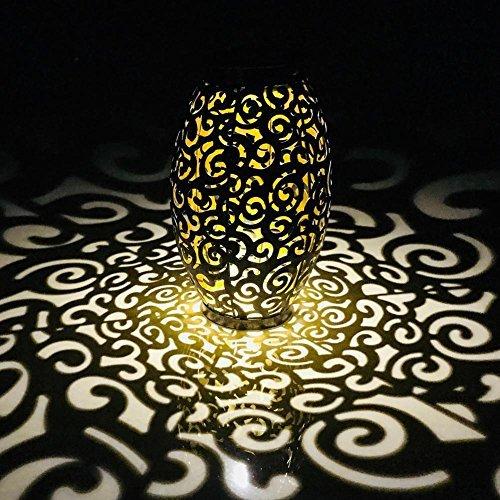 prosperveil Solar LED Hängeleuchte Retro Hohl Metall Cloud Laterne Outdoor Decor Lampe
