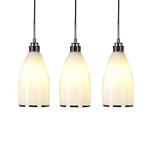 BD Restaurant Licht-Mode LED Esszimmer Hängeleuchte Glas Schlafzimmer Esszimmer Kreative Bars Lampen Einzelne Kronleuchter Farbe  A