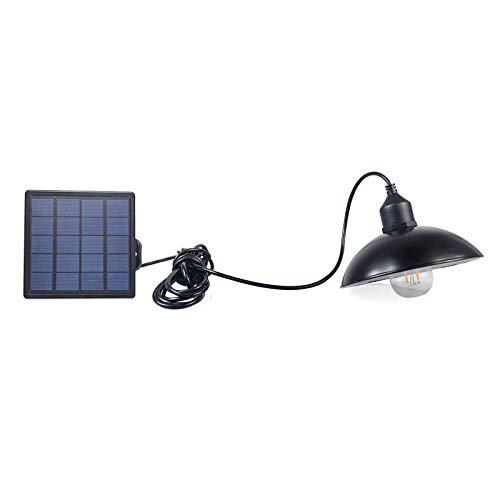DSstyles LED Wasserdichte Retro Solar Power Pendelleuchte Straßenlampe für Outdoor Hof Garten Flur Solar Kronleuchter Lampshade