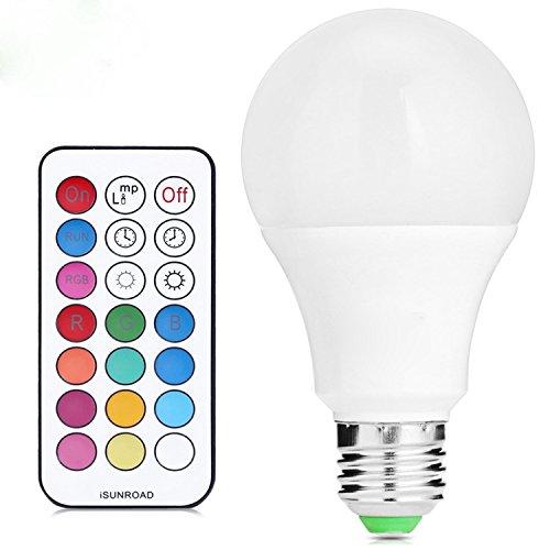 Ruiyue E27  E26 Dimmable RGB 10 Watt Lampe LED-lampen Bunte RGB Birne Kronleuchter LED Licht IR Fernbedienung AC 85-265 V LED Decoration