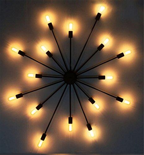 Z&MDH Amerikanische Retro-Wandleuchte industrielle Windpersönlichkeit Kronleuchter Eisen Lampe Studie Schlafzimmer Lampe Deckenleuchte 220V Leuchtmittel nicht inbegriffen