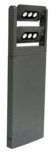 Eco Light Moderne LED-Wegeleuchte Mini LED Spot zweiflammig 616 cm hoch 1210 lm 18 W anthrazit 6146 S-2-616 GR