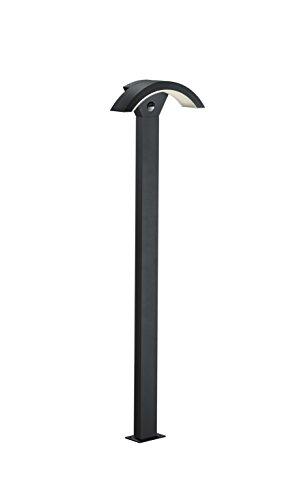 Trio Leuchten LED Außen Wegeleuchte Ohio 420969142 Aluminiumguss Anthrazit 6 Watt LED IP54 Bewegungsmelder