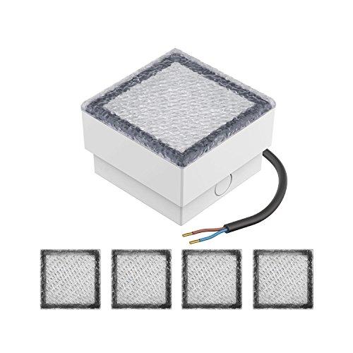 parlat LED Pflasterstein Wegeleuchte CUS 10x10cm 230V kalt-weiß 5 STK