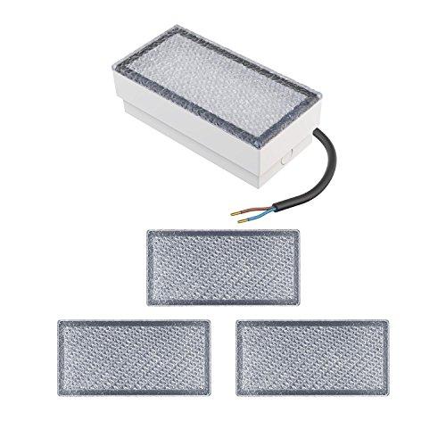 parlat LED Pflasterstein Wegeleuchte CUS 20x10cm 230V warm-weiß 4 STK