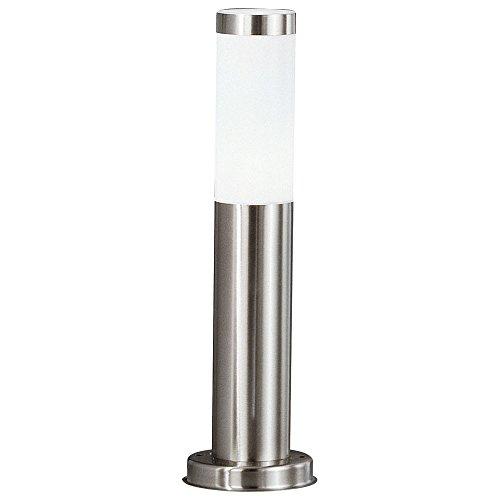 LED Edelstahl Steh Lampe Garten Weg Außen Beleuchtung Terrassen Stand Leuchte silber