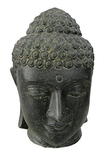 STONE art more Buddha-Kopf 32 cm Steinfigur Steinguss frostfest