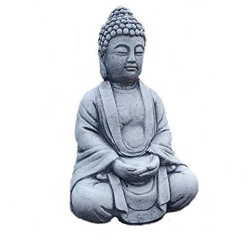 Steinfigur BUDDHA Skulptur Gartenfigur Frostfrei Steinguss